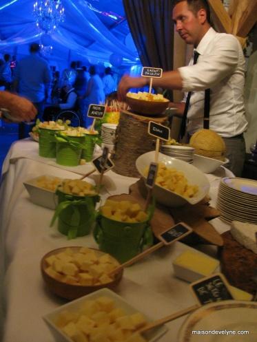 Buffet fin de soirée Fruits et fromages