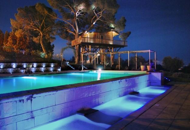 Black Cabin et piscine