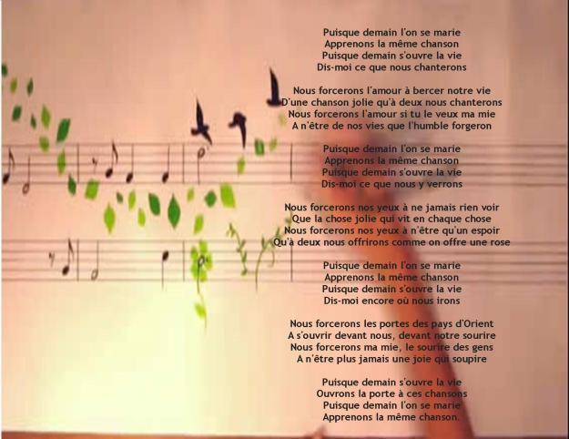 La chanson des fiancés Jacques Brel 1958