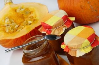 Marmelade de citrouille et gingembre                Photo crédit : Recettes du Quebec
