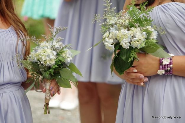 Bouquets d'hortensia et feuillages