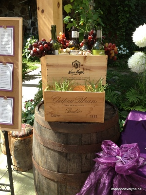 Décoration sur le thème du vin à la Maison d'Évelyne