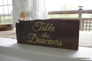 Table des douceurs