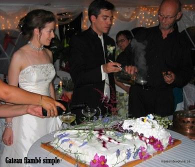 Flambage du gâteau